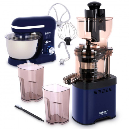 whole mouth Slow Juicer JE20 Blue with Stand Mixer
