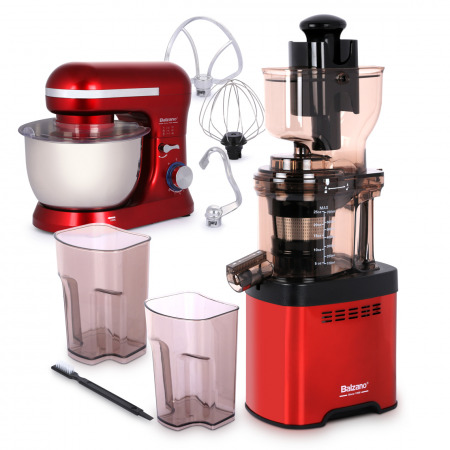 whole mouth Slow Juicer JE20 Red with Stand Mixer