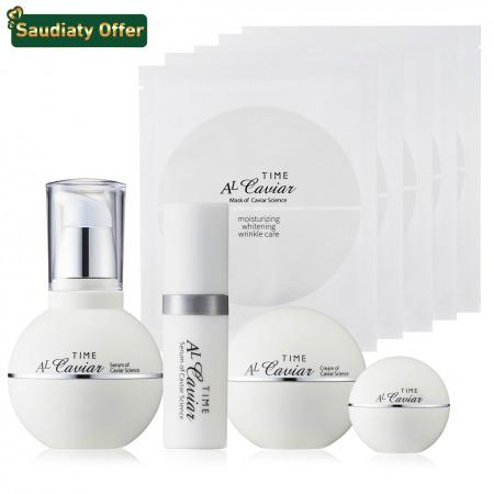 AL Caviar Science Skin Care Serum with Cream Set & FREE Mask set