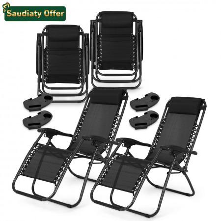 Zero Gravity Reclining Chair - set of 4