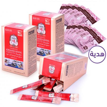 أكياس بودرة الجنسنج الأحمر الكوري - 60 ظرف مع هدية
