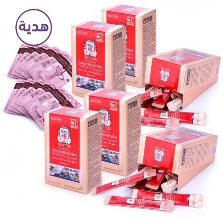 أكياس بودرة الجنسنج الأحمر الكوري - 120 ظرف مع هدية