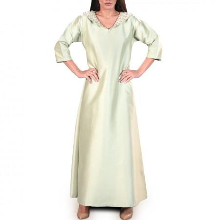 فستان ضحى مُطرز باللؤلؤ - مقاس L/XL
