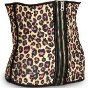 Double Zip Leopard Waist Trainer