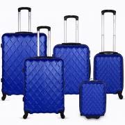 Diamente 5 Piece Luggage Set - Blue