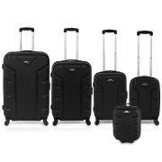 Flash 5pcs Luggage Set Black