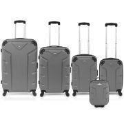 Flash 5pcs Luggage Set Grey