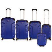Flash 5pcs Luggage Set Blue
