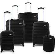 Bubble 5 Piece Luggage Set - Black