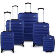 Bubble 5 Piece Luggage Set - Blue