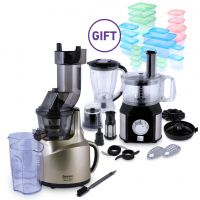 Whole Big Mouth Juicer - Gold & Food Processor & Gift