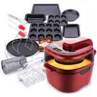 Turbo Airfrye 12L Red & 9PC Bakeware Set
