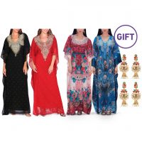 Maraim Embellished Jalabiya - Pack of 2 & Gifts