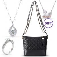 Moissanite Jewelry & Swan Necklace Gift