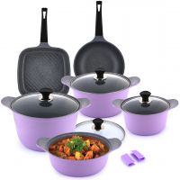 Lavander Cookware Set 11 Piece