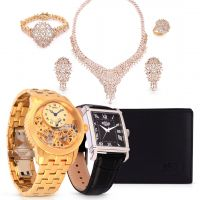 Centenary Double Flywheel Wristwatch &  Jewelry Set