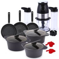 10 Piece Cookware Set & 3 in 1 Blender