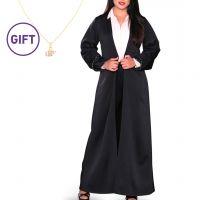 Mahra Black Bisht & Gift - L / XL