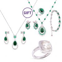 Moissanite Emerald Jewelry Set & Gifts