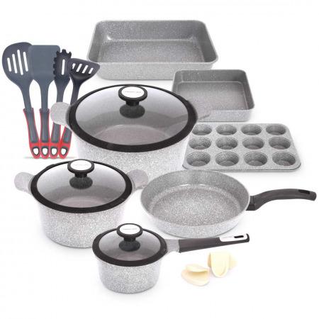 15 PCS Venn Cookware Set - Marble