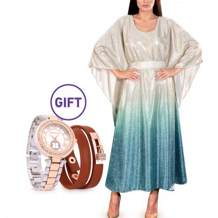 Duha Ombre Blue Dress & Gift