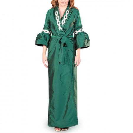 Embellished Green Bisht - L/XL