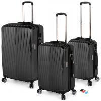 مجموعة حقائب سفر تورونتو RA 8661 من ديسكفري – 3 قطع أسود
