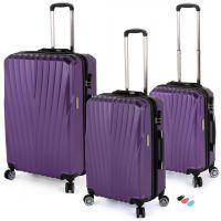 مجموعة حقائب سفر تورونتو RA 8661 من ديسكفري – 3 قطع بنفسجي