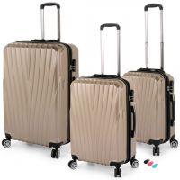 مجموعة حقائب سفر تورونتو RA 8661 من ديسكفري – 3 قطع ذهبي
