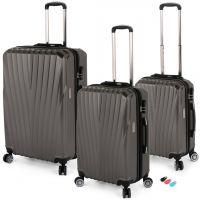 مجموعة حقائب سفر تورونتو RA 8661 من ديسكفري – 3 قطع رمادى