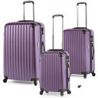 مجموعة حقائب سفر RA 808 من ديسكفري – 3 قطع بنفسجي