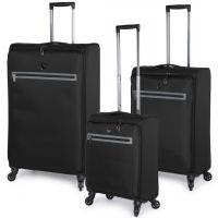 مجموعة حقائب سفر زيرو من هيز 3 قطع - أسود