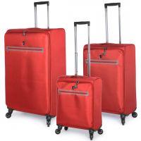 مجموعة حقائب سفر زيرو من هيز 3 قطع - أحمر