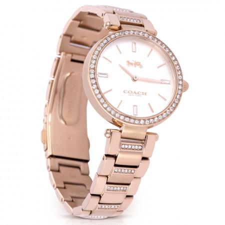ساعة يد ذهبية كريستال بارك للنساء