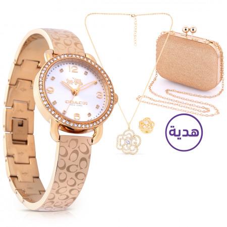 ساعة يد ديلانسي الذهبية مع هدايا