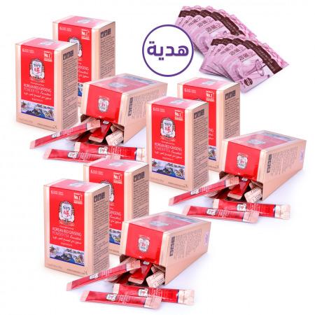 أكياس بودرة الجنسنج الأحمر الكوري - 180 ظرف مع هدية