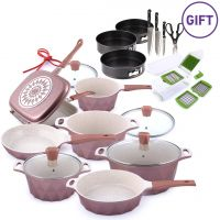 11 Piece Crystal Diecast Cookware Set & Gifts