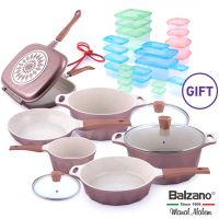Crystal 9 Piece Cookware Set & Gift