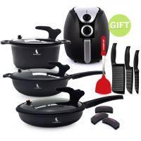Black Knight Low Pressure Cookware Set & 4.5 Air Fryer Black