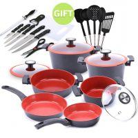10 PIece Reverse Cookware Set & Gifts
