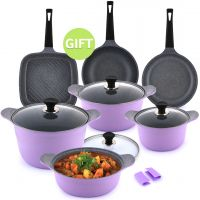 10 Pieces Lavender Cookware Set & Gift
