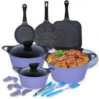 12 Piece Eela Cookware Set - Purple