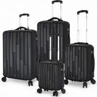 Hills 4 piece Luggage Set- Black
