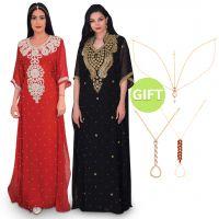 Saraya Al Waad Black Jalabiya with Gifts