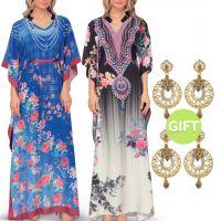 Fay Garden Rose Jalabiya - Pack of 2