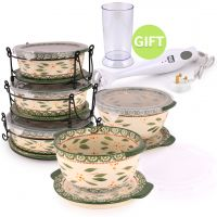 13 Pc Bakeware Set Green & gift