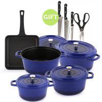 9 Piece Signature Cookware Set - Blue