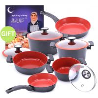 10 Pieces Reverse Cookware Set