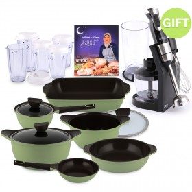 Iris Series Non-Stick Cookware Set of 9 & Gifts