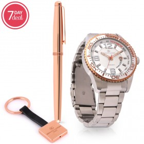 Stainless Steel Watch & Pen Gift Set